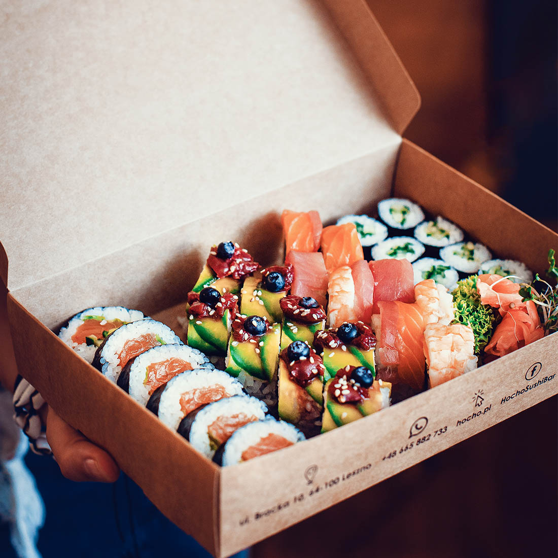 Sushi boxes made entirely of paper will be noticed and appreciated by your customers
