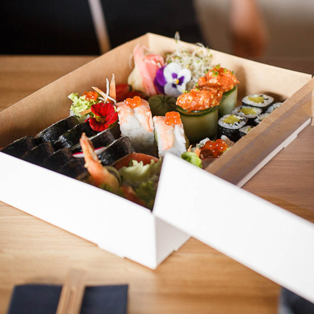 The packaging in which you serve sushi has a big impact on customer responses.