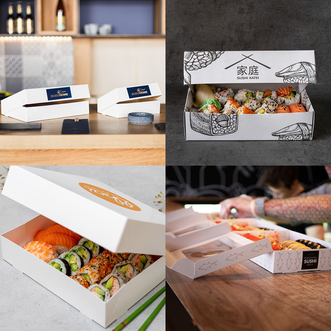 Many restaurants are already using paper packaging for sushi