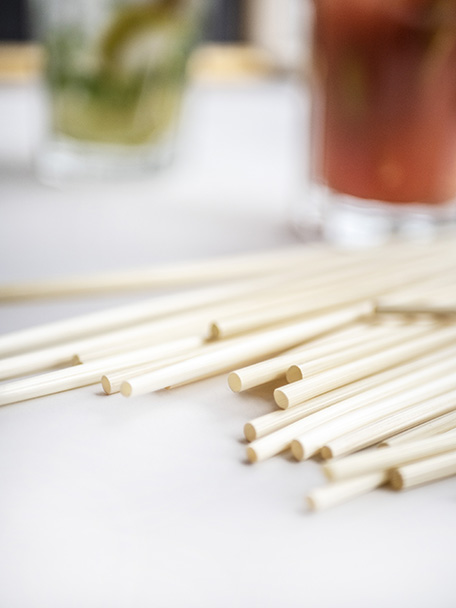Natural straws are durable, completely biodegradable and they are a great substitute for plastic versions.