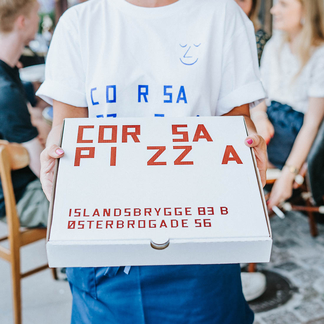 Pizza boxes made for Corsa Pizza are FSC certified.